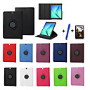cheap Universal Cases & Bags-Case For Samsung Galaxy / Tab S2 8.0 / Tab S2 9.7 with Stand / Flip / 360° Rotation Full Body Cases Solid Colored Hard PU Leather for