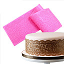 cheap Bathroom Gadgets-Silicone Lace Mats Mold Lace Mat Fondant Cake Decorating Wedding Flower Embossing Mould