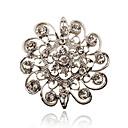 preiswerte Broschen-Damen - Strass, versilbert, Diamantimitate Luxus, Europäisch, Simple Style Brosche Für Party / Alltag / Normal
