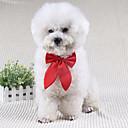 hesapli Köpek Giyim ve Aksesuarları-Köpek Düğüm/Papyon Bağı Köpek Giyimi Fiyonk Düğüm Siyah Kırmzı Şarap Terylene Kostüm Evcil hayvanlar için Erkek Kadın's Sevimli Düğün