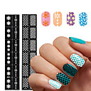 cheap Makeup & Nail Care-2016 new 1pcs reusable stamping tool diy nail art hollow template stickers stencil guide 24 styles options
