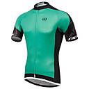 Χαμηλού Κόστους Φώτα Ποδηλάτου-XINTOWN Ανδρικά Κοντομάνικο Λευκό Πράσινο Ποδήλατο Αθλητική μπλούζα Αναπνέει Γρήγορο Στέγνωμα Υπεριώδης Αντίσταση Αθλητισμός Ελαστίνη Τερυλίνη Λίκρα Ρούχα / Υψηλή Ελαστικότητα