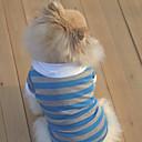 hesapli Köpek Giyim ve Aksesuarları-Köpek Tişört Köpek Giyimi Çizgi Turuncu Kırmzı Mavi Terylene Kostüm Evcil hayvanlar için Erkek Kadın's Günlük/Sade