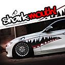 """hesapli Onarım Aletleri-Bir boyutu 60 """"* 20"""" serin köpekbalığı ağız diş ho araba oto gövde çıkartmalar yansıtıcı (1 çift) sticker"""