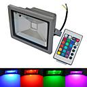 baratos Focos de LED-6000-6500/3000-3200 lm Focos de LED 1 leds COB Impermeável Controle Remoto Branco Quente Branco Frio RGB AC 85-265V