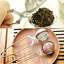 billige Utstyr til te-te infuser rustfritt stål tekanne infuser sfære mesh tesil håndtak te ball