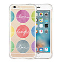 abordables Coques d'iPhone-Coque Pour Apple iPhone 6 iPhone 6 Plus Antichoc Transparente Motif Coque Bande dessinée Flexible Silicone pour iPhone 6s Plus iPhone 6s