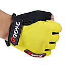 cheap Bike Lights-QEPAE Bike Gloves / Cycling Gloves Sports Fingerless Gloves Breathable Warm Wearproof Yellow Red Blue Leather Camping / Hiking Cycling / Bike Fitness Men's Unisex