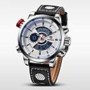 ieftine Ceasuri Bărbați-WEIDE Bărbați Ceas de Mână / Ceas digital Alarmă / Calendar / Cronograf Piele Bandă Charm Negru / Rezistent la Apă / LCD / Zone Duale de Timp