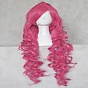 Недорогие Колье и ожерелья-Парики из искусственных волос / Маскарадные парики Волнистый / Естественные волны Искусственные волосы Парик Жен. Моноволокно / L-образный / Половина монолитным Розовый
