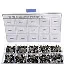 ieftine Accesorii-750pcs 15kindsx50pcs la-92 tranzistor kit + cutie de vânzare cu amănuntul (A1015, c945, c1815, s8050, s9012,2n2222 ...)