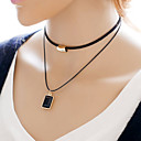 cheap Necklaces-Women's Choker Necklace - Simple Style, Double-layer Black Necklace Jewelry For Daily, Casual