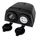 ieftine Lumini de Ceață Mașină-jtron 5v 2.1a dual USB încărcător w / 20a soclu bricheta - negru