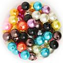 hesapli Saç Takıları-DIY Mücevherat 200 Koraliki Arkilik ABS Plastik Pembe Altın Açık Yeşil Gökküşağı Kristal Yuvarlak Round Shape boncuk 1 DIY Kolyeler