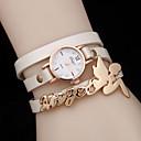 preiswerte Damenuhren-Damen Armband-Uhr Quartz Armbanduhren für den Alltag Leder Band Analog Charme Modisch Schwarz / Weiß / Blau - Grün Blau Bronze