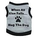 hesapli Köpek Giyim ve Aksesuarları-Kedi Köpek Tişört Köpek Giyimi Çiçek/Botanik Gri Yeşil Mavi Pembe Pamuk Kostüm Evcil hayvanlar için Erkek Kadın's Moda