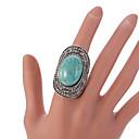 hesapli Yüzükler-Kadın's Bildiri Yüzüğü / Ayarlanabilir halka - Turkuaz, alaşım Vintage, Moda Ayarlanabilir Yeşil Uyumluluk Parti / Günlük / Kristal / Yapay Elmas