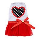 hesapli Köpek Giyim ve Aksesuarları-Köpek Elbiseler Köpek Giyimi Kalp Mor / Kırmzı / Pembe Pamuk Kostüm Evcil hayvanlar için Yaz