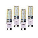 preiswerte LED-Kugelbirnen-4pcs 5W 450lm G9 LED Doppel-Pin Leuchten T 104 LED-Perlen SMD 3014 Dekorativ Warmes Weiß Kühles Weiß 200-240V 220-240V