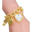 hesapli Kadın Saatleri-ASJ Kadın's Moda Saat Bilezik Saat Japonca Quartz Japon Kuvartz 30 m / Alaşım Bant Analog Heart Shape Gümüş / Altın Rengi - Gümüş Altın