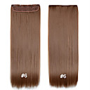 cheap Decoration Stickers-Straight Clips Synthetic Hair 22 inch Hair Extension Clip In Clip In / On Women's Daily
