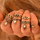 cheap Rings-Women's Knuckle Ring Rings Set - Elephant, Flower, Animal Personalized, Vintage, Bohemian 6 Silver / Golden For Wedding Party Gift / 10pcs