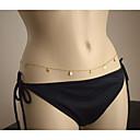 hesapli Vücut Takıları-Göbek Zinciri / Vücut Zinciri / Belly Chain Püskül, Avrupa, Moda Kadın's Altın Vücut Mücevheri Uyumluluk Günlük