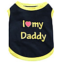cheap Dog Clothing & Accessories-Cat Dog Shirt / T-Shirt Dog Clothes Heart Letter & Number Floral / Botanical Black Black/Yellow Cotton Costume For Pets Men's Women's