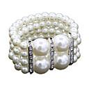 ieftine Curele-Pentru femei Perle Bratari Wrap femei Modă Imitație de Perle Bijuterii brățară Alb Pentru Nuntă Zilnic Mascaradă Petrecere Logodnă Bal Promisiune