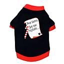 baratos Brinquedos para Cães-Gato Cachorro Camiseta Roupas para Cães Carta e Número Preto/Vermelho Algodão Ocasiões Especiais Para animais de estimação Homens Mulheres