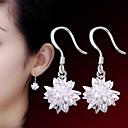 preiswerte iPad Displayschutzfolien-Damen Kristall Ohrring - Sterling Silber, Silber Blume Punk, Modisch Weiß Für Hochzeit Party Alltag