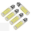hesapli LED Ampuller-JIAWEN 400-480 lm E14 LED Mısır Işıklar T 75 led SMD 3528 Dekorotif Sıcak Beyaz Serin Beyaz AC 220-240V