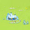 hesapli Çıkartmalar ve Desenler-Dekoratif Duvar Çıkartmaları - Uçak Duvar Çıkartmaları Noel Dekorayonu Oturma Odası Yatakodası Banyo Mutfak Yemek Odası Çalışma Odası /