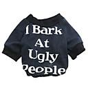 hesapli Köpek Giyim ve Aksesuarları-Kedi Köpek Tişört Köpek Giyimi Çiçek/Botanik Siyah Kırmzı Pamuk Kostüm Evcil hayvanlar için Erkek Kadın's Moda