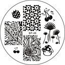 voordelige Nagelstempels-Nail Art Stempelen Plate Stamper schraper 6*6*0.1
