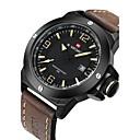 ieftine Ceasuri Bărbați-NAVIFORCE Bărbați Ceas Militar  / Ceas de Mână Calendar / Rezistent la Apă / Cool Piele Bandă Lux / Modă Negru / Maro / Sony S626 / Doi ani