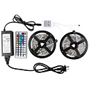 KWB 10m Sets de Luces 600 LED 5050 SMD RGB Control remoto / Cortable / Regulable 100-240 V / Conectable / Auto-Adhesivas / Color variable / IP44