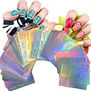 cheap Makeup & Nail Care-1set 63pcs nail art hollow stickers geometric image beautiful mixed hollow stickers nj215