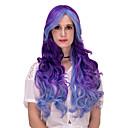 hesapli Makyaj ve Tırnak Bakımı-Sentetik Peruklar / Kostüm Perukları Ombre Sentetik Saç Ombre Peruk Kadın's Çok uzun Bonesiz