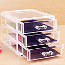 hesapli Makyaj ve Tırnak Bakımı-Cosmetics Storage 3.Katman / çıkarılabilir Drawears Makyaj 1 pcs Arkilik / Plastik Klasik Günlük Kozmetik Tımar Malzemeleri