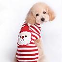 ieftine Becuri De Mașină LED-Pisici Câine Costume Haine Pulovere Îmbrăcăminte Câini Dungi Animal Rosu Costume Pentru Iarnă Bărbați Pentru femei Cosplay Nuntă Keep Warm