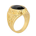 cheap Rings-Men's Agate Statement Ring - Agate, Alloy Vintage, Fashion, Statement 7 / 8 / 9 Black For Party / Daily / Casual
