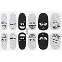 preiswerte Make-up & Nagelpflege-1 pcs 3D Nails Nagelaufkleber Nagel Kunst Maniküre Pediküre lieblich Zeichentrick / Modisch Alltag / 3D Nagel Sticker