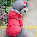 preiswerte LED Lichtstreifen-Katze Hund Mäntel Kapuzenshirts Hundekleidung Solide Rot Blau Baumwolle Kostüm Für Haustiere Herrn Damen Winddicht warm halten