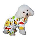 Χαμηλού Κόστους Ρούχα και αξεσουάρ για σκύλους-Σκύλος Φόρμες Πυτζάμες Ρούχα για σκύλους Κινούμενα σχέδια Κίτρινο Κόκκινο Μπλε Πολική Προβιά Στολές Για Άνοιξη & Χειμώνας Χειμώνας Ανδρικά Γυναικεία Καθημερινά