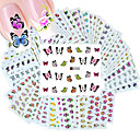 cheap Nail Rhinestones & Decorations-50pcs different styles fashion flowers pattern nail art water transfer stickers