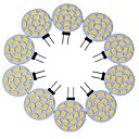 abordables LED à Double Broches-10pcs 3 W LED à Double Broches 200-300 lm G4 T 15 Perles LED SMD 5730 Décorative Blanc Chaud Blanc Froid 12 V / 10 pièces / RoHs