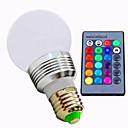 Χαμηλού Κόστους Μπρελόκ-3 W 320 lm E26/E27 LED Έξυπνες Λάμπες A60(A19) 1 leds LED Υψηλης Ισχύος Με ροοστάτη Τηλεχειριζόμενο RGB AC 220-240V AC 85-265V