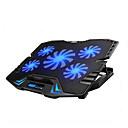 hesapli PS4 Aksesuarları-5 hayranları ile ayarlanabilir led ekranlı akıllı kontrol dizüstü soğutma pedi