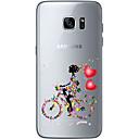 Недорогие Кабели и адаптеры для телефонов-Кейс для Назначение SSamsung Galaxy Samsung Galaxy S7 Edge Прозрачный Other Кейс на заднюю панель С сердцем Мягкий ТПУ для S7 edge S7 S6